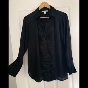 Kenneth Cole Black Tuxedo Shirt 8